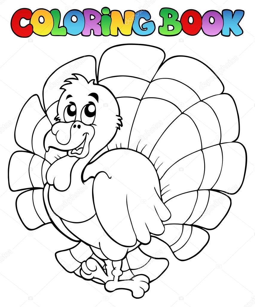 Buch glücklich Türkei Färbung — Stockvektor © clairev #13127071