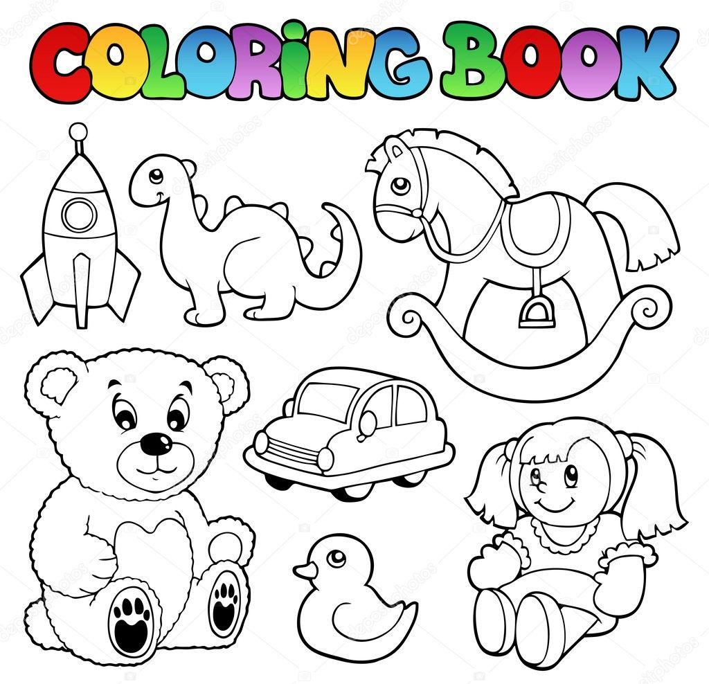 Coloring Book Toys Theme 1 Stock Vector C Clairev 13778538