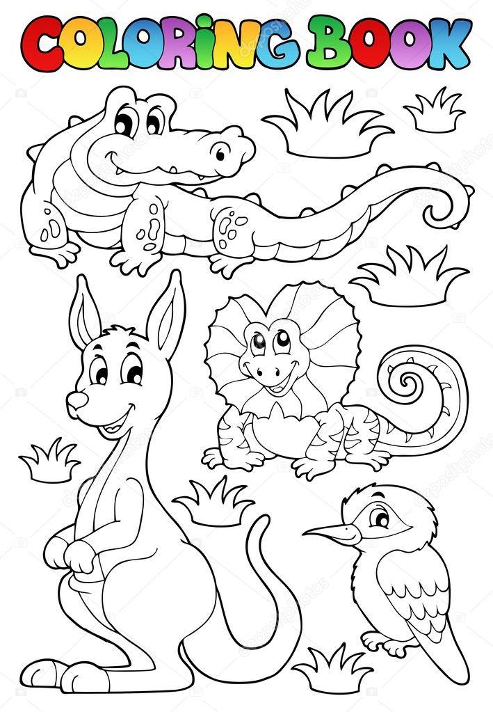 libro para colorear la fauna australiana 2 — Archivo Imágenes ...