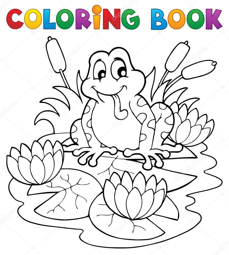 Dibujos Para Pintar De La Fauna Colorear Imagen Libro Río