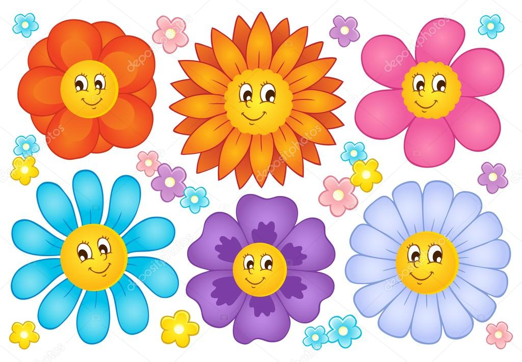 Áˆ Cartoon Flowers Stock Drawings Royalty Free Flowers Cartoon Pictures Download On Depositphotos
