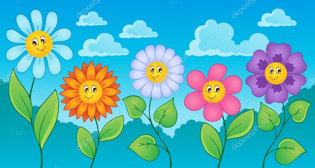 Tema De Flores Dibujos Animados 1