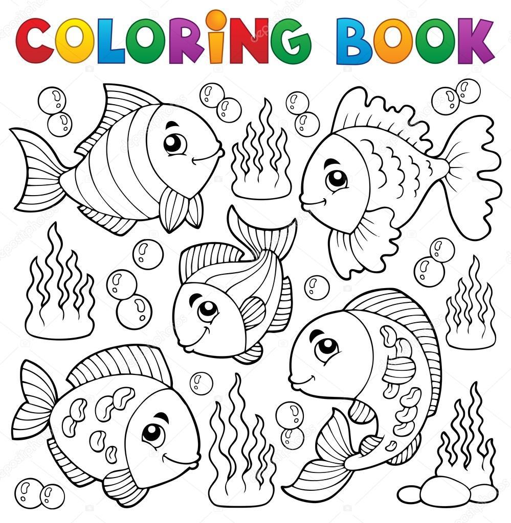 libro para colorear varios tema peces 1 — Vector de stock © clairev ...