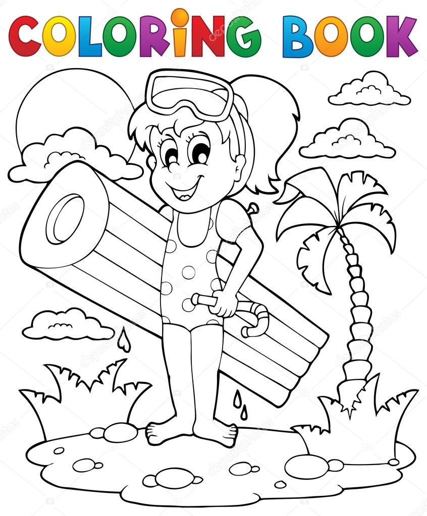 actividad de verano libro 2 para colorear — Archivo Imágenes ...