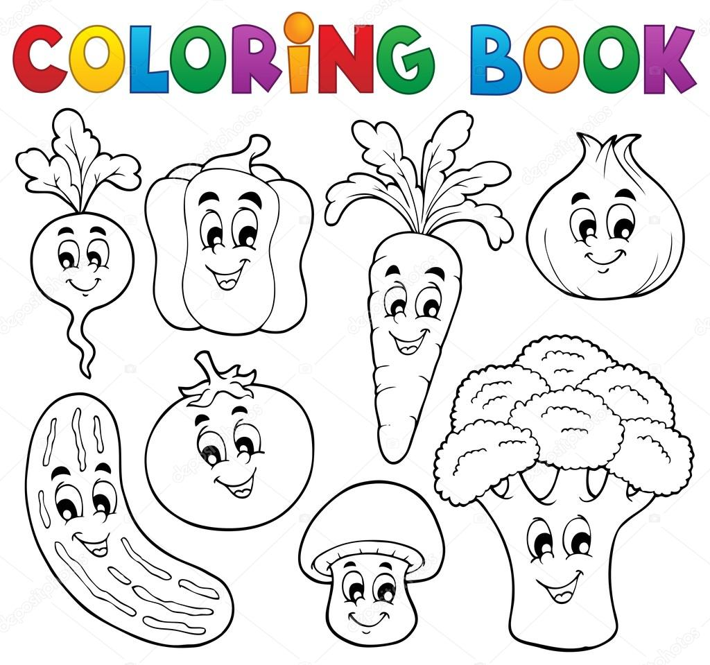 colorear el tema vegetal libro 1 — Vector de stock © clairev #27213875