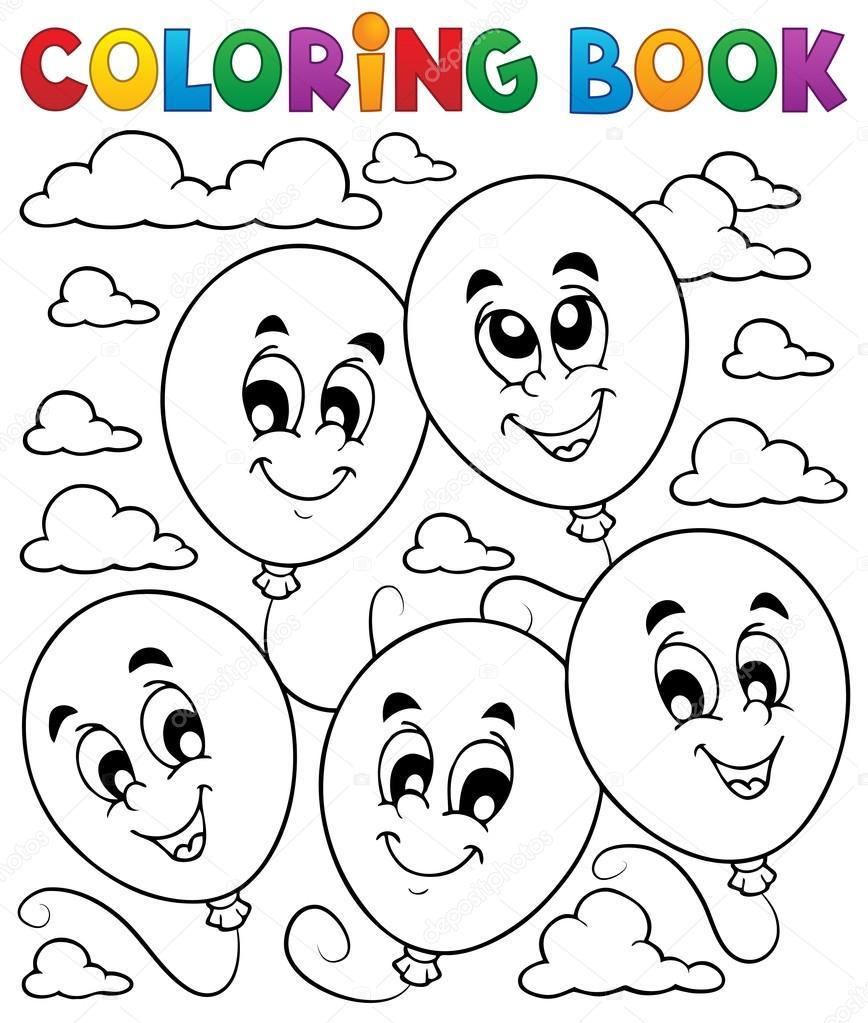Boyama Kitabı Balonlar Tema 2 Stok Vektör Clairev 28491529