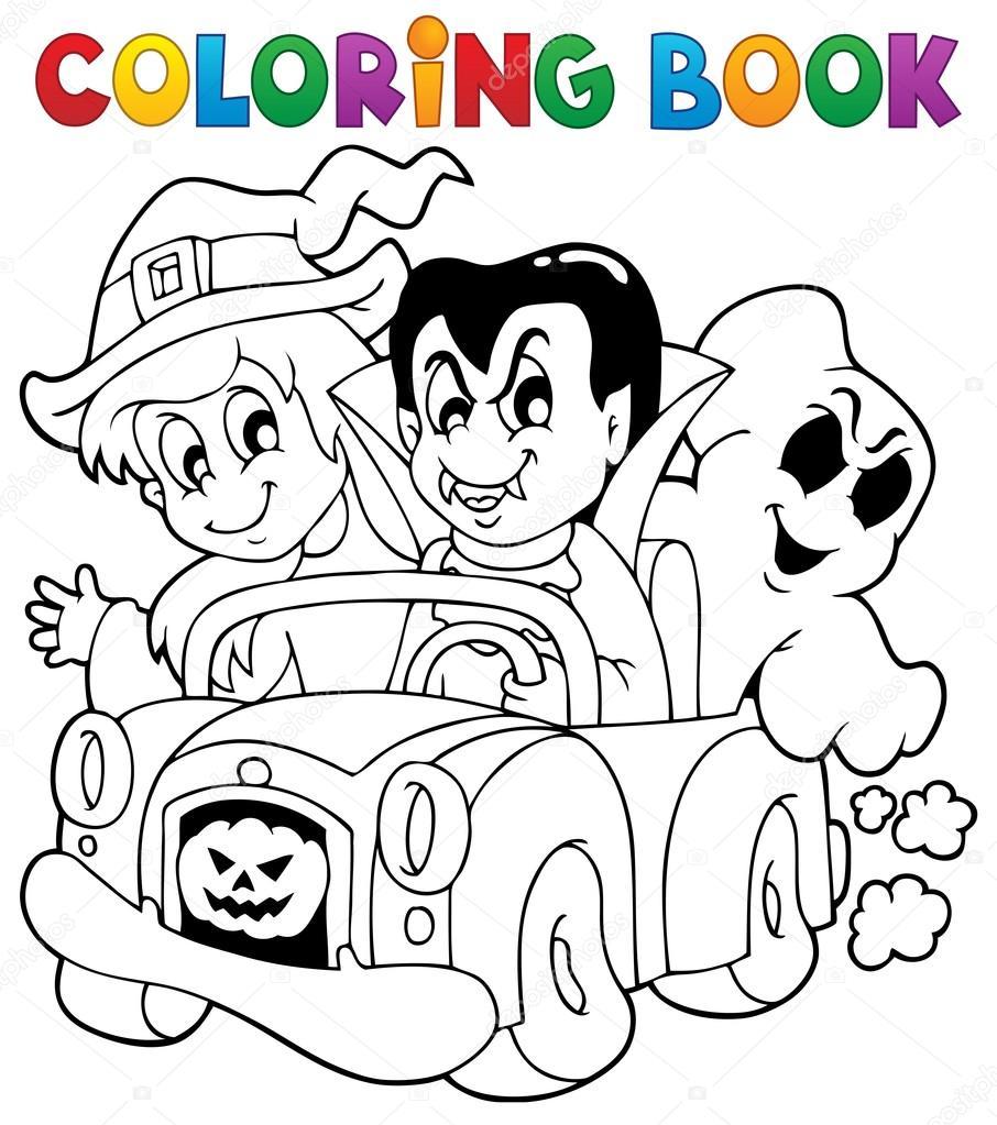 carácter de halloween libro 8 para colorear — Vector de stock ...