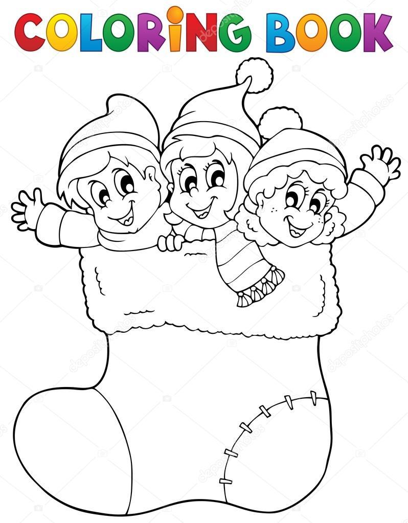 libro para colorear imagen Navidad 1 — Archivo Imágenes Vectoriales ...