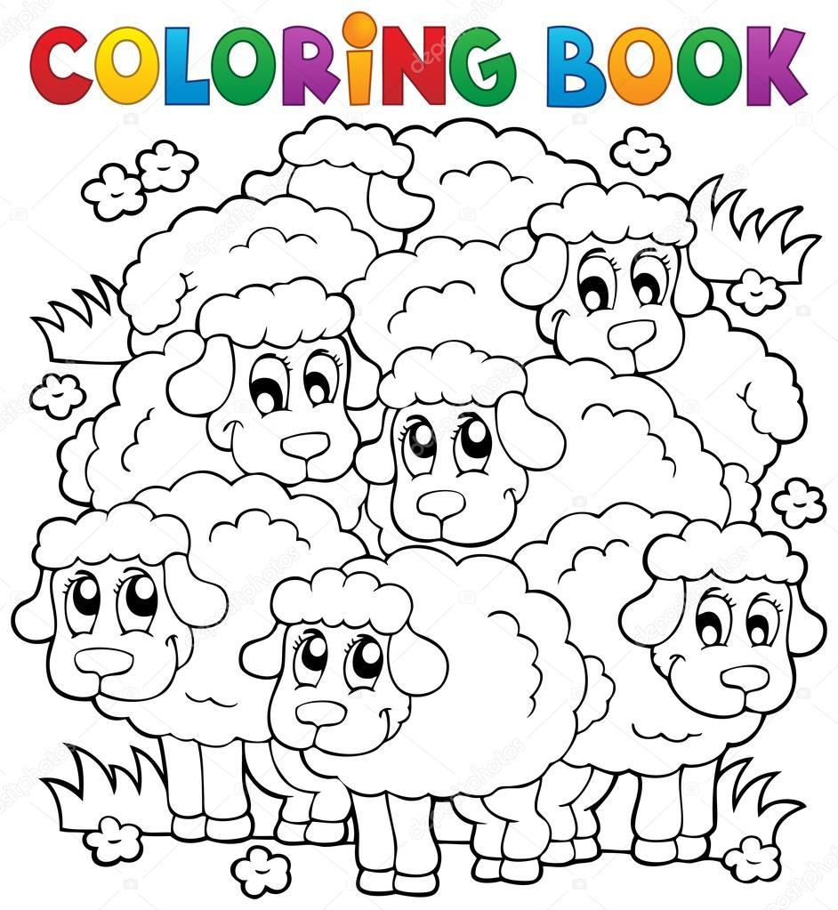 colorear el tema ovejas libro 2 — Archivo Imágenes Vectoriales ...
