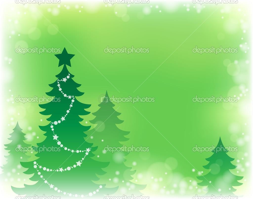 Weihnachtsbaum-Silhouette-Thema 3 — Stockvektor © clairev #34822933