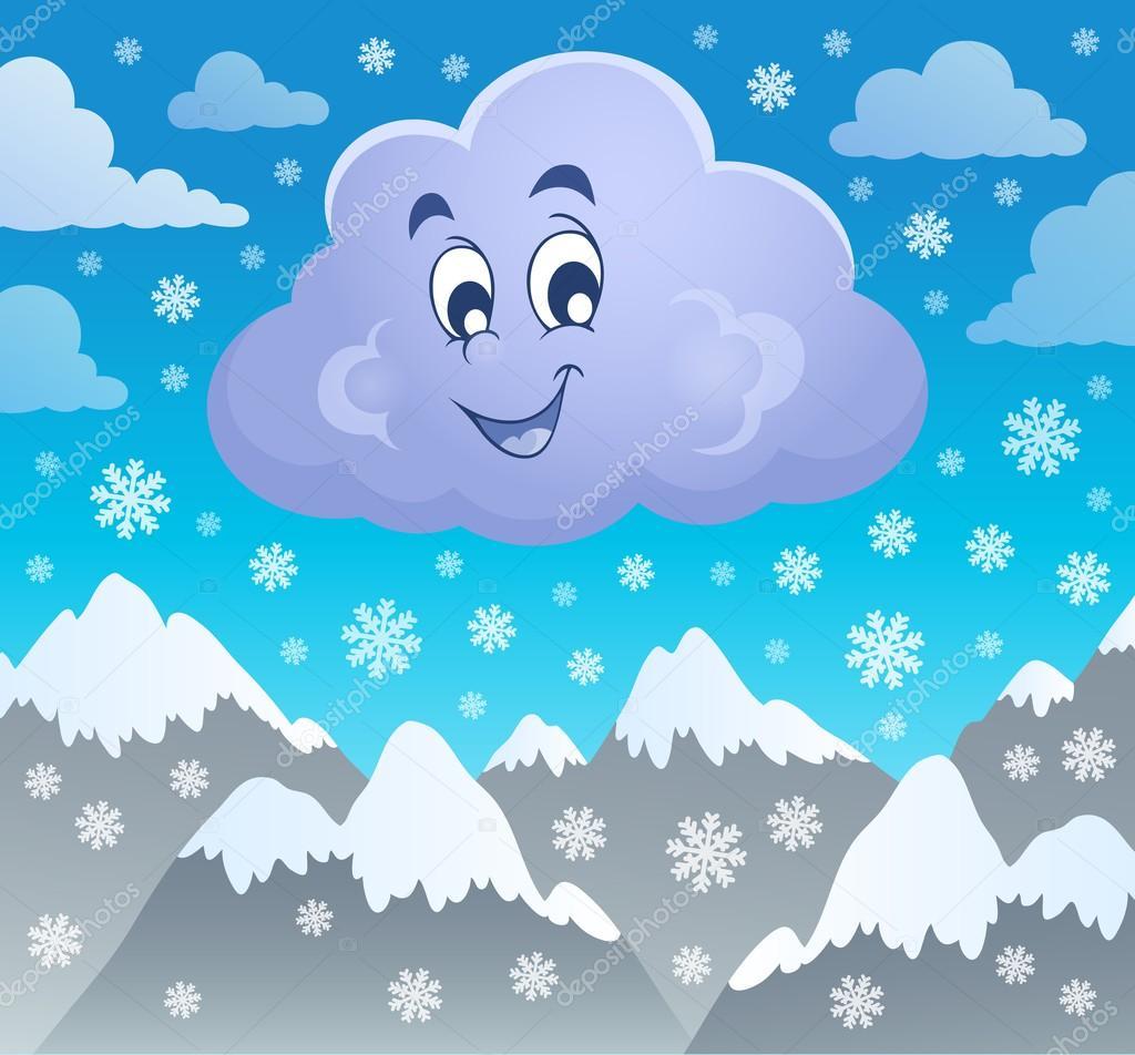 Снежные облака картинки для детей