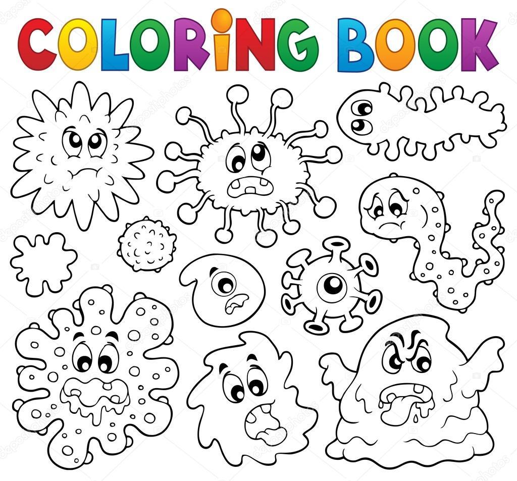 лист багрянной раскраска бактерии и микробы комментариии