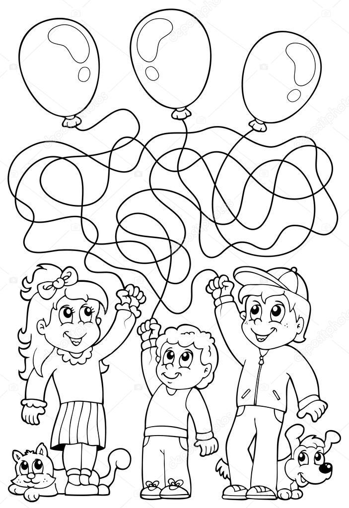 laberinto 8 libro para colorear con los niños — Archivo Imágenes ...