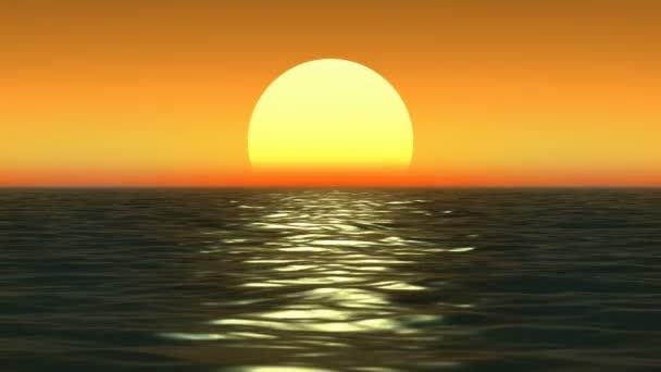 západ slunce na pobřeží moře