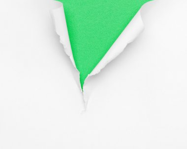 Cracked green paper background