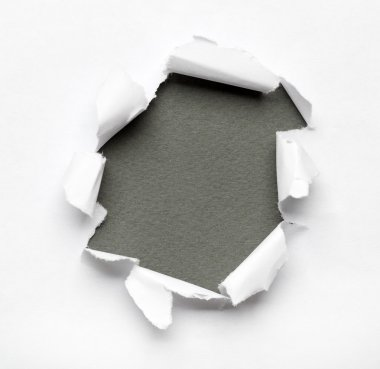 Breakthrough paper hole