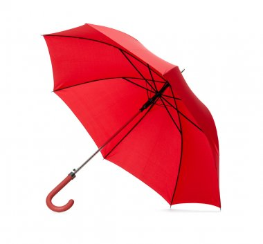 Opened red umbrella