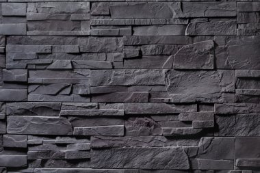 Texture of gray stone wall stock vector