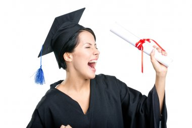Happy student with the diploma