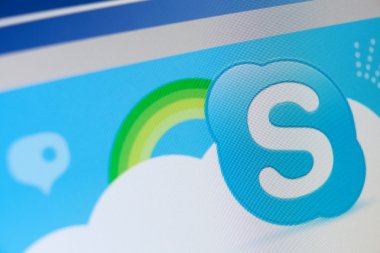 Close up of skype icon