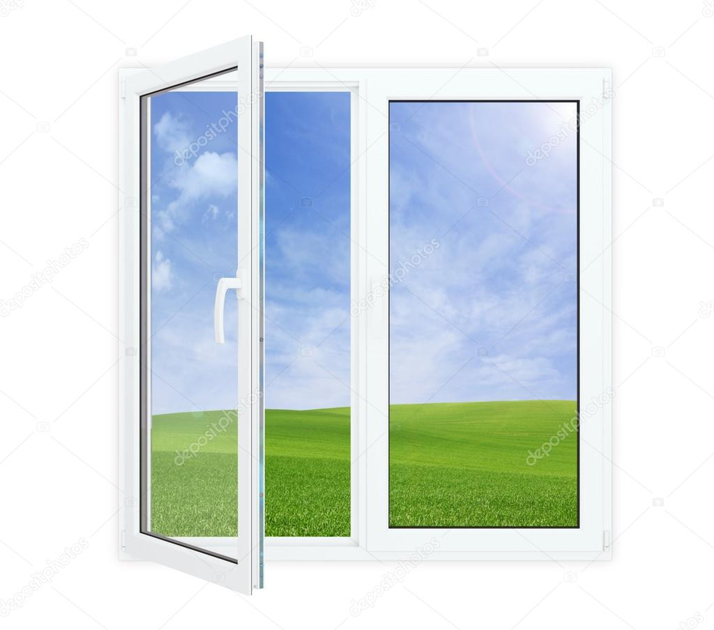 Open window with picturesque view