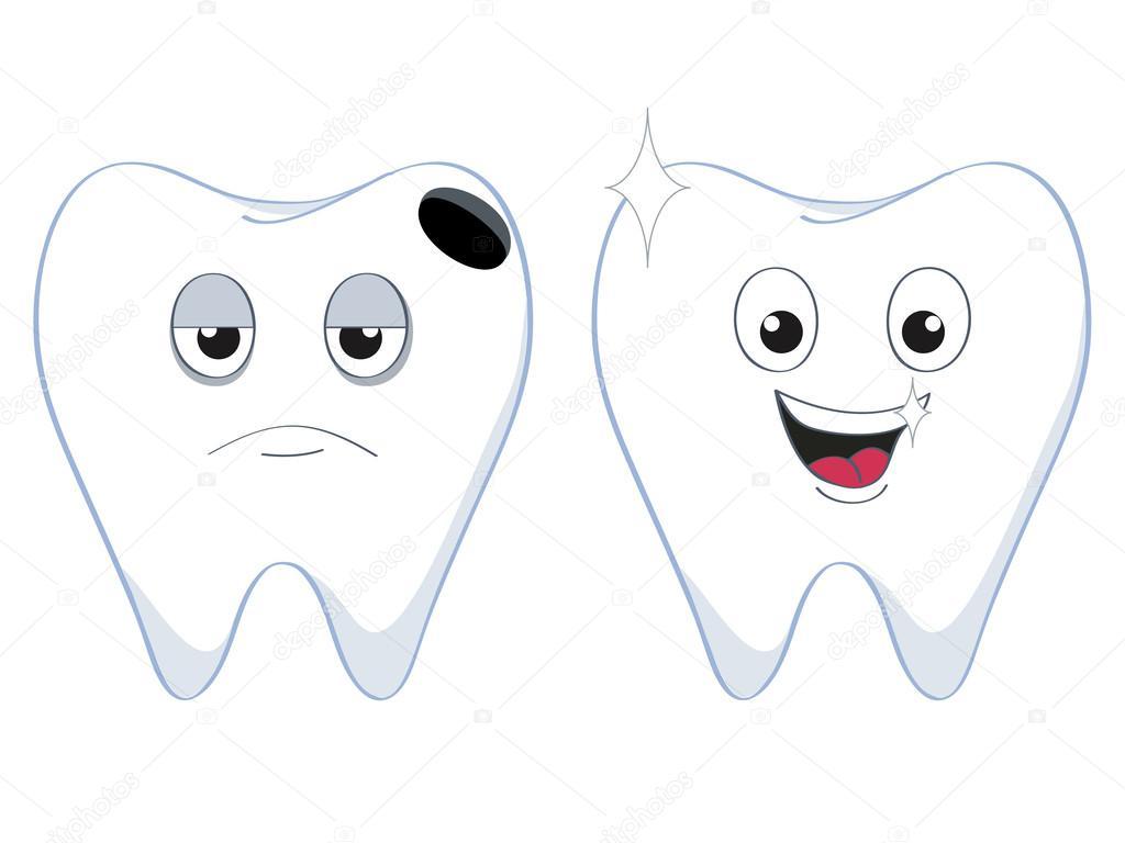 Картинки большого, картинки с изображением веселого и грустного зуба