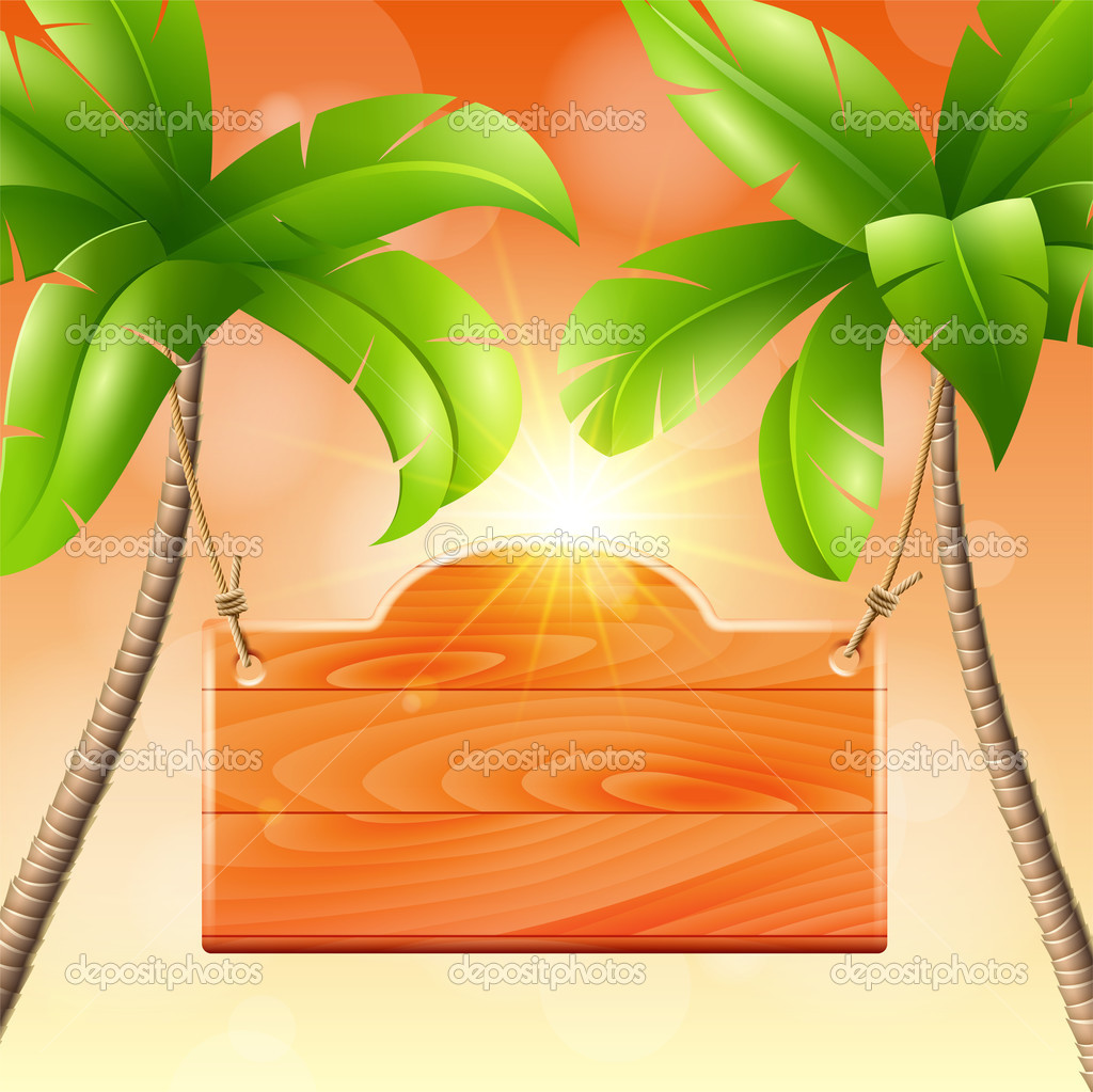 Illustration of summer vacation