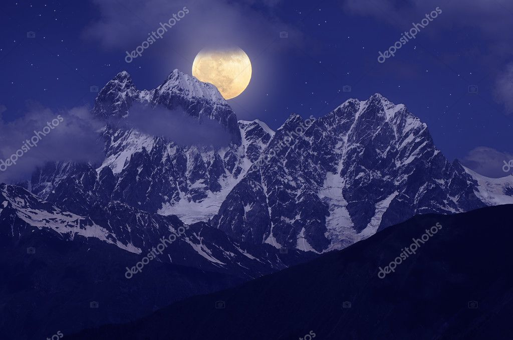 Moon over the hill