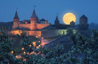 Old fortress with illumination
