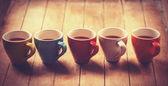 Fotografie Skupina šálků kávy