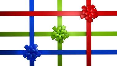 Three bow with a ribbon (RBG)