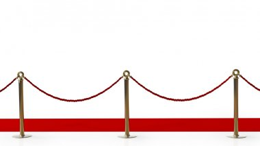 red carpet isolated on a white background High resolution 3d render