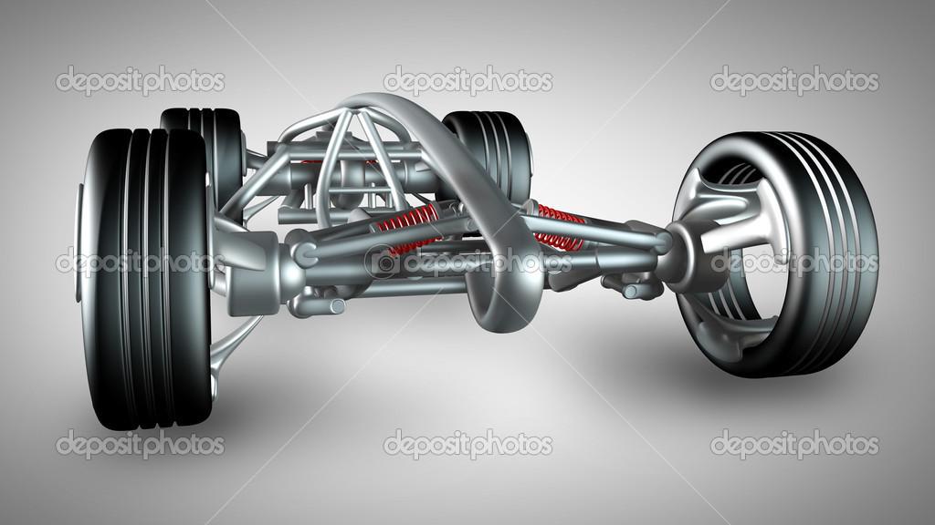 Konzept-Auto-Rahmen. hochauflösende 3d render — Stockfoto © ADDRicky ...
