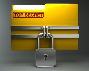 Folder with closed padlock (Top secret)
