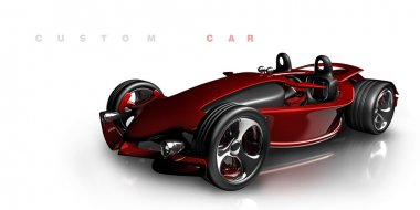 Concept. red sport car