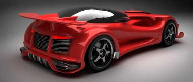 Red sport car Concept