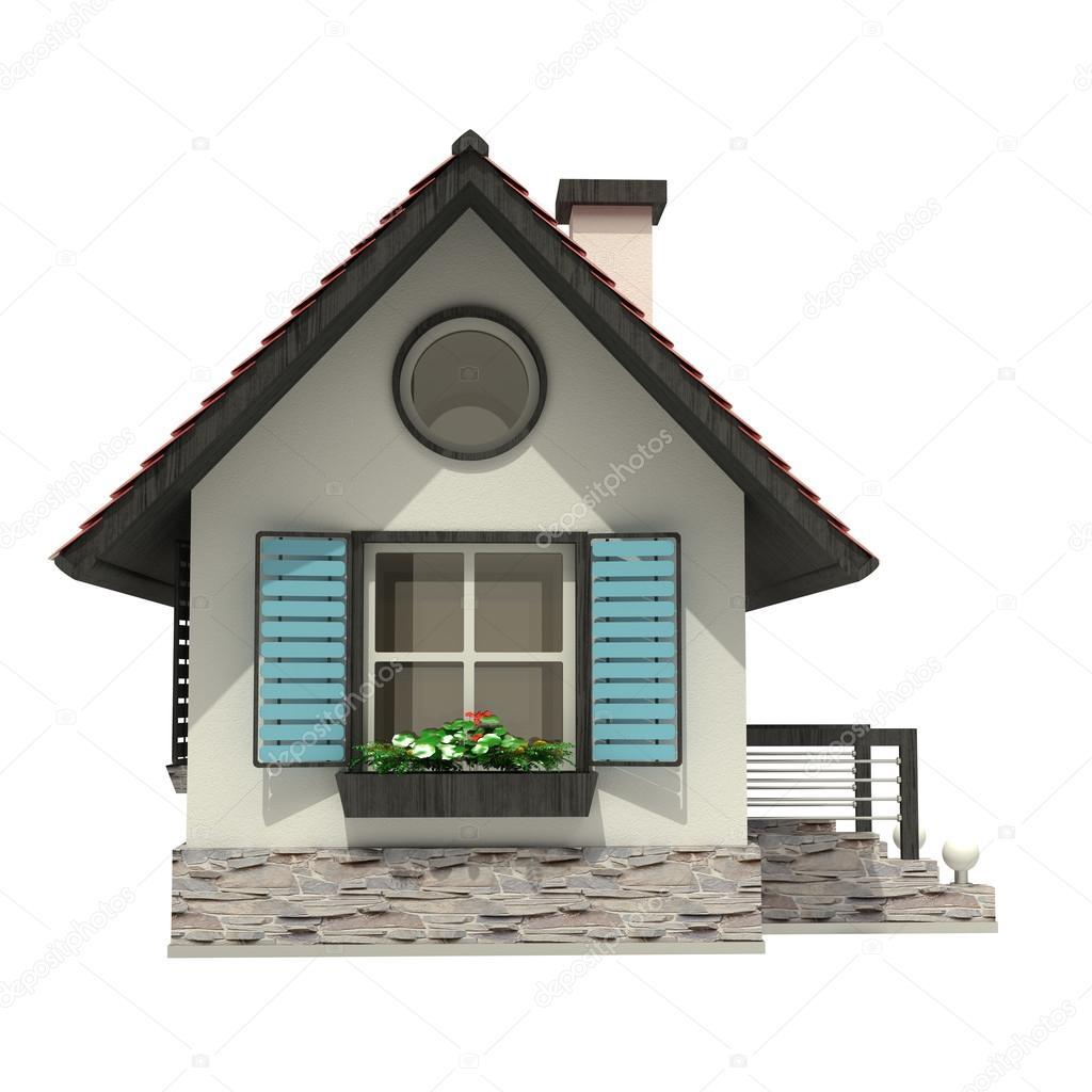 Captivating 3d Haus Isoliert Auf Weissem Hintergrund U2014 Stockfoto