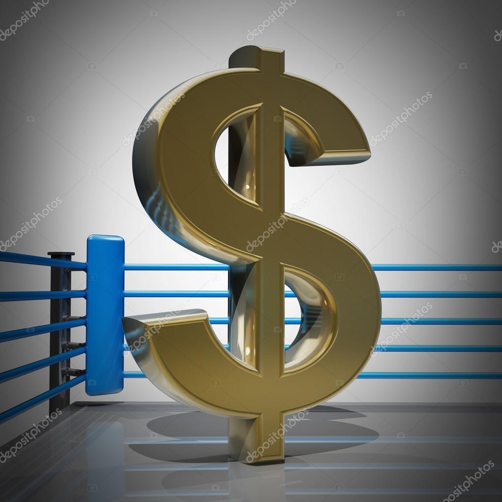 Boxing Ring With Us Dollar Symbol Stock Photo Addricky 20329145