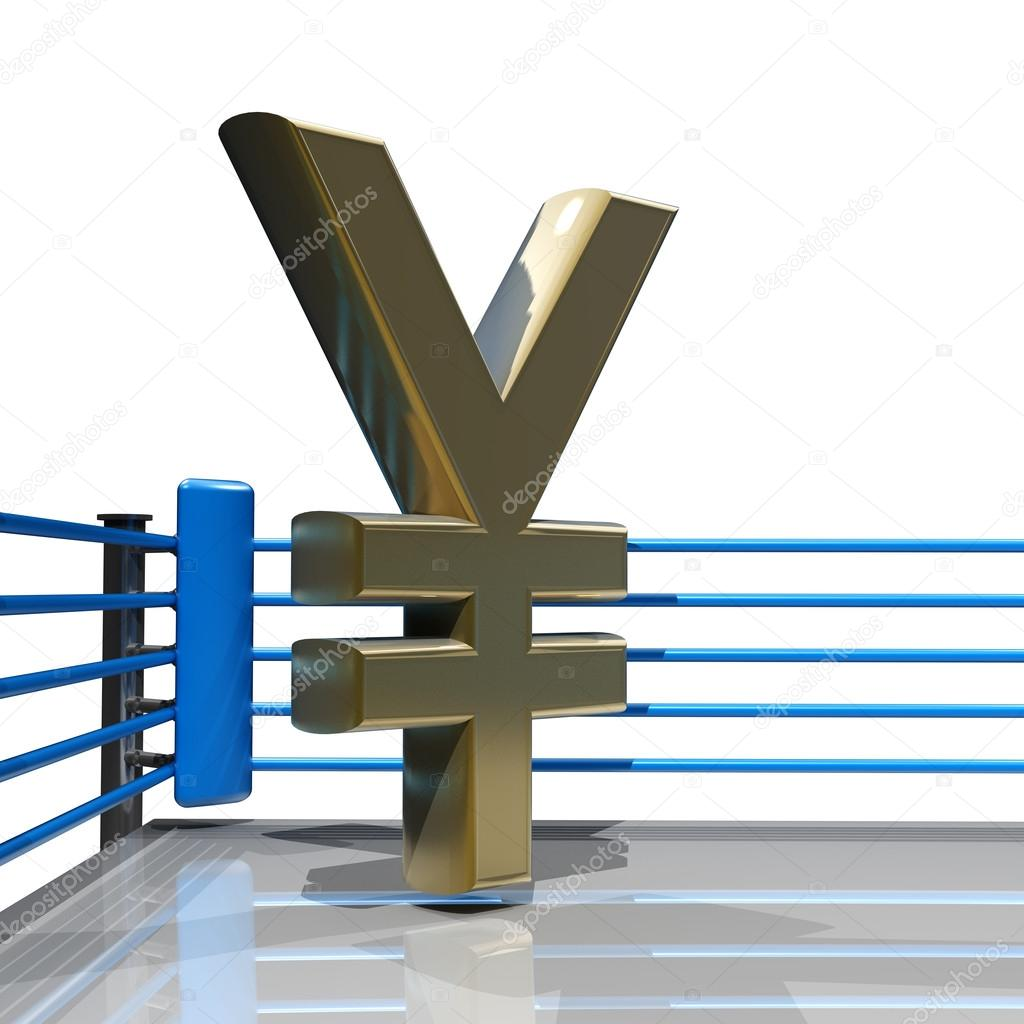 Boxing ring with japanese yen symbol stock photo addricky boxing ring with japanese yen symbol isolated on white background 3d render high resolution photo by addricky biocorpaavc Choice Image