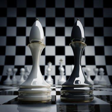 Black vs wihte chess officer