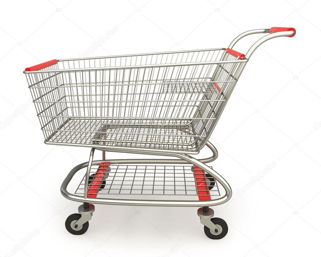 Carrito de compras vac o aislado en fondo blanco alta - Carrito dela compra ...