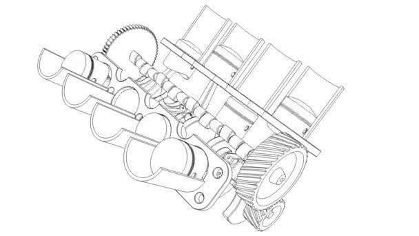 Motor de combustión interna– metraje de stock