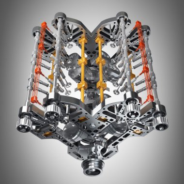 Concept of modern car engine