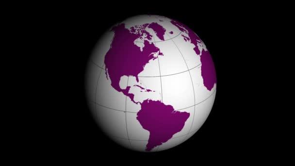 světadíl mapu zeměkoule otáčející