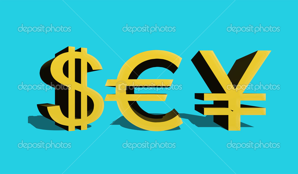 Dollar Sign Of The Usa Eurocurrencies And Japanese Enes Stock