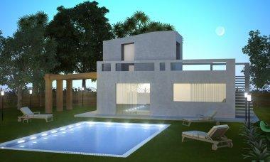 Summer villa nigth
