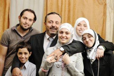 Muslim Arabic family