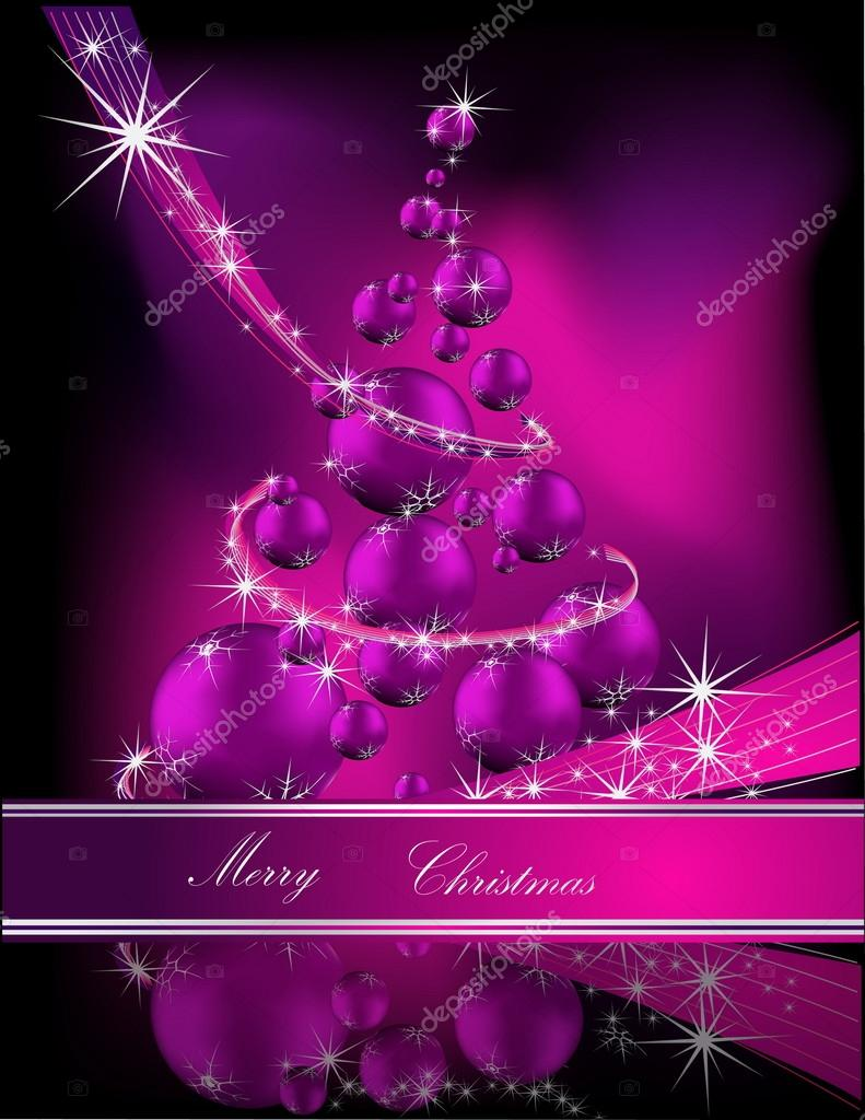 Christmas tree pink and silver