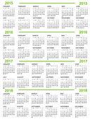 Fényképek naptár, új év 2015, 2016, 2017, 2018