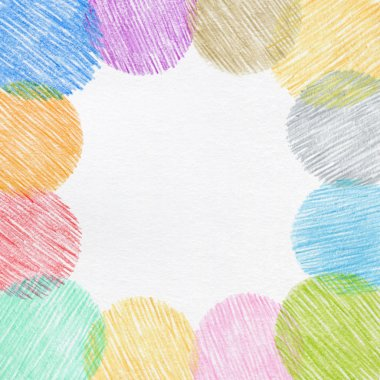 hand drawing color pencil frame